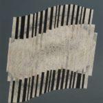 Doutes- Graphite et brisure de crayon de couleur sur papier - 42 x 36,5 cm - 16,5 x 14 po