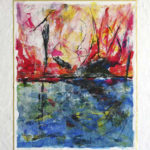 L'Escale - Acrylique sur papier marouflé sur toile - 77x 61 cm - 30 x 24 po VENDU