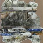 L'Univers d'Aladin - Techniques mixtes sur papier mylar marouflé sur toile - 21 x 16 cm / 8 x 6 po