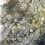 Grand sage - Techniques mixtes sur papier mylar marouflé sur toile - 18 x 13 cm / 7 x 5po VENDU