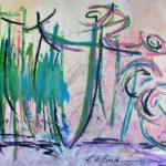 La Chute - Techniques mixtes sur papier marouflé sur toile - 46 x 61 cm / 18 x 24 po