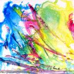 Braver la tempête - Acrylique sur papier terraskin - 25 x 25 cm / 10 x 10 po