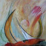 Voyage intérieur - Acrylique sur papier marouflé sur toile - 76 x 61 cm / 30 x 24 po VENDU