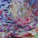 Passage - Techniques mixtes sur papier mylar marouflé sur toile et vernis résine - 41 x 41 cm / 16 x 16 po