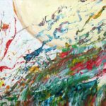Boule et déboule - Acrylique sur papier - 23 x 31 cm / 9 x 12 po VENDU